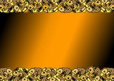Orange Feld mit formlosen Punkten Lizenzfreie Stockfotografie