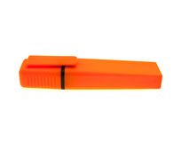 Orange felt-tip pen for drawing Royalty Free Stock Photography