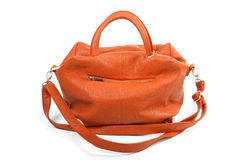 Orange female bag isolated Royalty Free Stock Photos