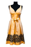 Orange female dress Royalty Free Stock Image