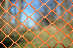 Orange Fence Close-up Royalty Free Stock Photography