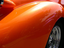 Orange Fender. On antique 1938 automobile Royalty Free Stock Image