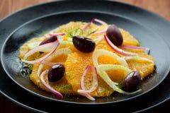 Orange and fennel salad stock images