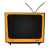 Orange Fernsehapparat Stockfotografie