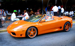 Orange Ferrari Stock Photography