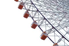 Orange Ferris Wheel på Osaka, Japan Royaltyfri Foto