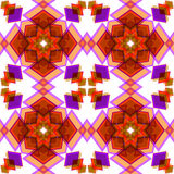 Orange  festive christmas star seamless pattern. Orange festive geometric abstract  seamless pattern background Stock Photo