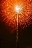 Orange Feuerwerk Stockfotos