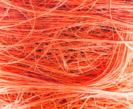 Orange fibres background Stock Image