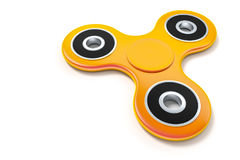 Orange fidget spinner Royalty Free Stock Image