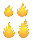 Orange  fire. Over white background. vector illustration Stock Image