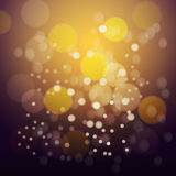 Orange fire bokeh background. Vector eps 10 Stock Photography