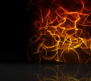 Orange fire design on black Royalty Free Stock Photos