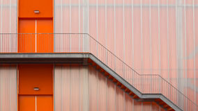 Orange Fire escape stairs Royalty Free Stock Photos