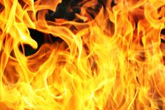 Orange fire flame Stock Photo