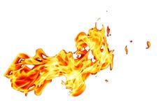 Orange fire flame. Isolated on white background Royalty Free Stock Photos