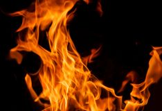 Orange Fire Flames Stock Photos
