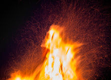 Orange fire flames Royalty Free Stock Image