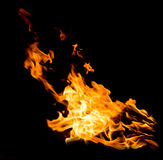 Orange fire flames Royalty Free Stock Photos