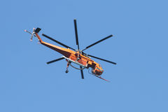 Orange Fire Helicopter Stock Images