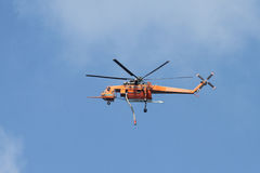 Orange Fire Helicopter Stock Image