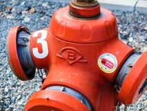 Orange Fire Hydrant Royalty Free Stock Image