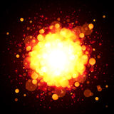 Orange fire space vector explosion Royalty Free Stock Photo