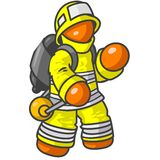 Orange firefighter Stock Images