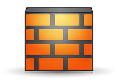 Orange firewall Royalty Free Stock Images