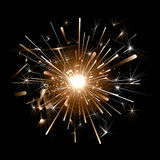 Orange firework on a black background Royalty Free Stock Images
