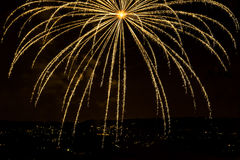 Orange firework Stock Image