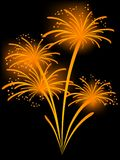 Orange fireworks Royalty Free Stock Photography
