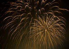 Orange fireworks Stock Image