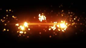 Orange fireworks beautiful bokeh Stock Images