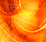 Orange Fireworks Blast. Bright and vivid orange and yellow burst of wavy rays like the sun or spectacular fireworks Stock Photo