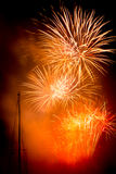 Orange fireworks Royalty Free Stock Photos