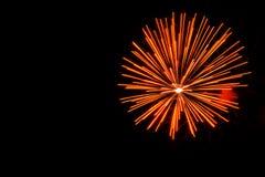 Orange fireworks display royalty free stock photos