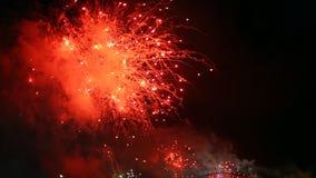 Orange Fireworks Sydney stock footage