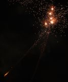 Orange Fireworks. In Sydney Darling Harbour Royalty Free Stock Photo