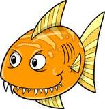 Orange Fische Vektor Lizenzfreie Stockfotografie