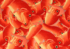 Orange Fish Decorative Art in Kyoto, Japan. Next to Buddhist Temples Stock Photography