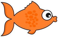 An orange fish on his best profile. This is an illustration vector illustration