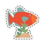 Orange fish marine ecosystem life coral. Illustration eps 10 Stock Photography