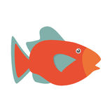 Orange fish marine ecosystem life. Illustration eps 10 Stock Photo
