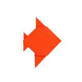 A orange fish origami from paper Stock Photography