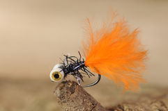 Orange fishing bait Stock Photos