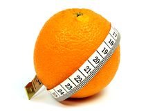 Orange fitness queen Royalty Free Stock Images