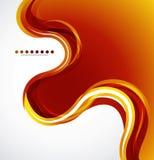Orange flüssige Welle Stockfoto