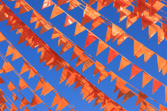 Orange flaggor Royaltyfria Foton