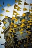 Orange flags Stock Photography